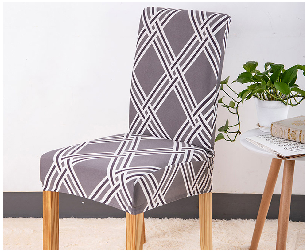 1246PCS Geometry Spandex Chair Cover Dining Washable slipcover for seat Elastic Kitchen Chair Covers Stretch Furniture Covers (8)