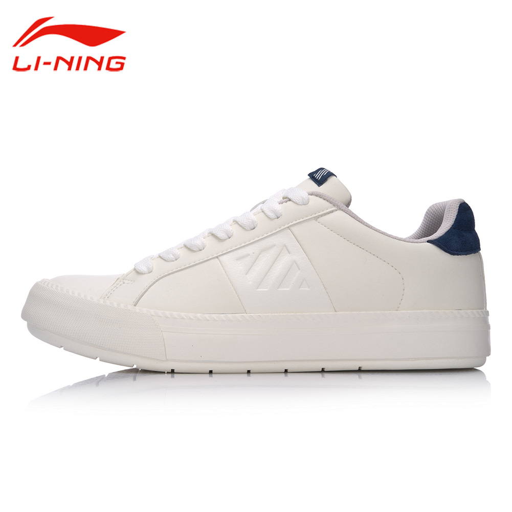 цена Li-Ning Men Anti-Slip Wearable Walking Shoes Black&White Sneakers Li Ning Classical shoes LINING Jogging Sports Shoes GLKM091