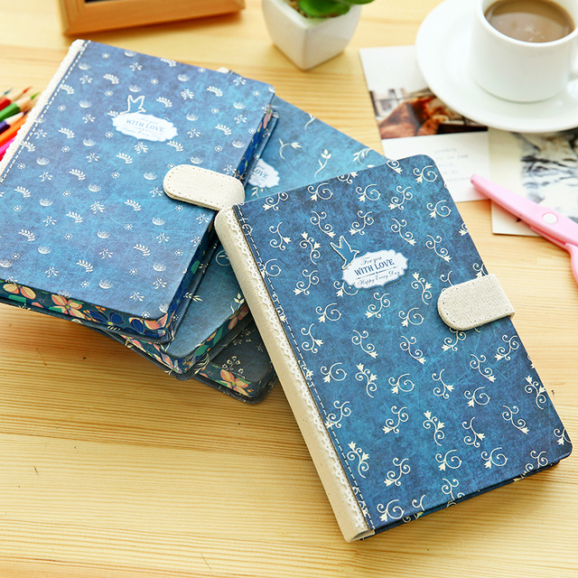 1pc Japan&South Korea New Vintage Hardcopy Notebook Paper of 128 Sheets Personal Diary Notepad Stationery School Office supplies deli new 1pc notebook korea cute stationery european retro paper cover diy a diary book cute notebook vintage weekly notebook