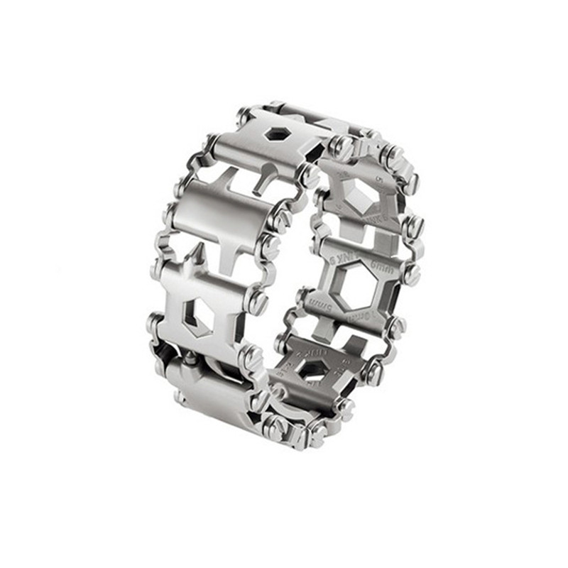 Wnnideo- Tread Bracelet, The Travel Friendly Wearable Multi-Tool, Stainless Steel