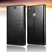 For Huawei P9 lite Case Leather Retro Flip Cover ForHuawei Ascend Lite Luxury Wallet Stand Back P9lite Phone Coque