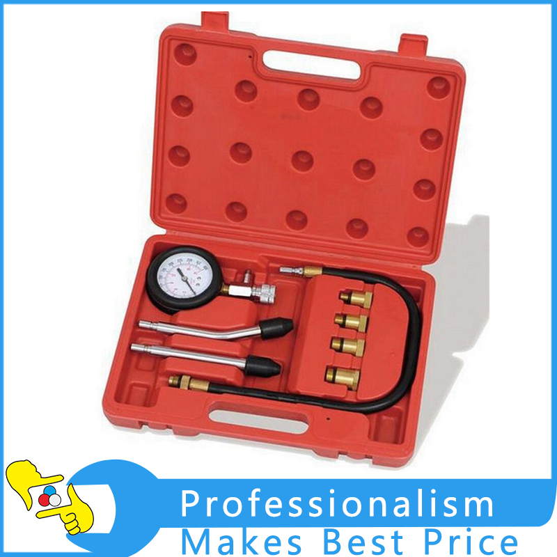 Brand New 8 In 1 Petrol Gas Engine Cylinder Compression Tester Gauge Kit Auto Tools