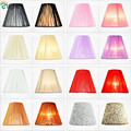 European Candle Chandelier Wire Drawing Lamp Shades Colorful Shades