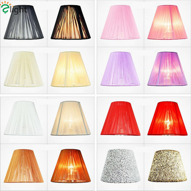 European Candle Chandelier Wire Drawing Lamp Shades Colorful