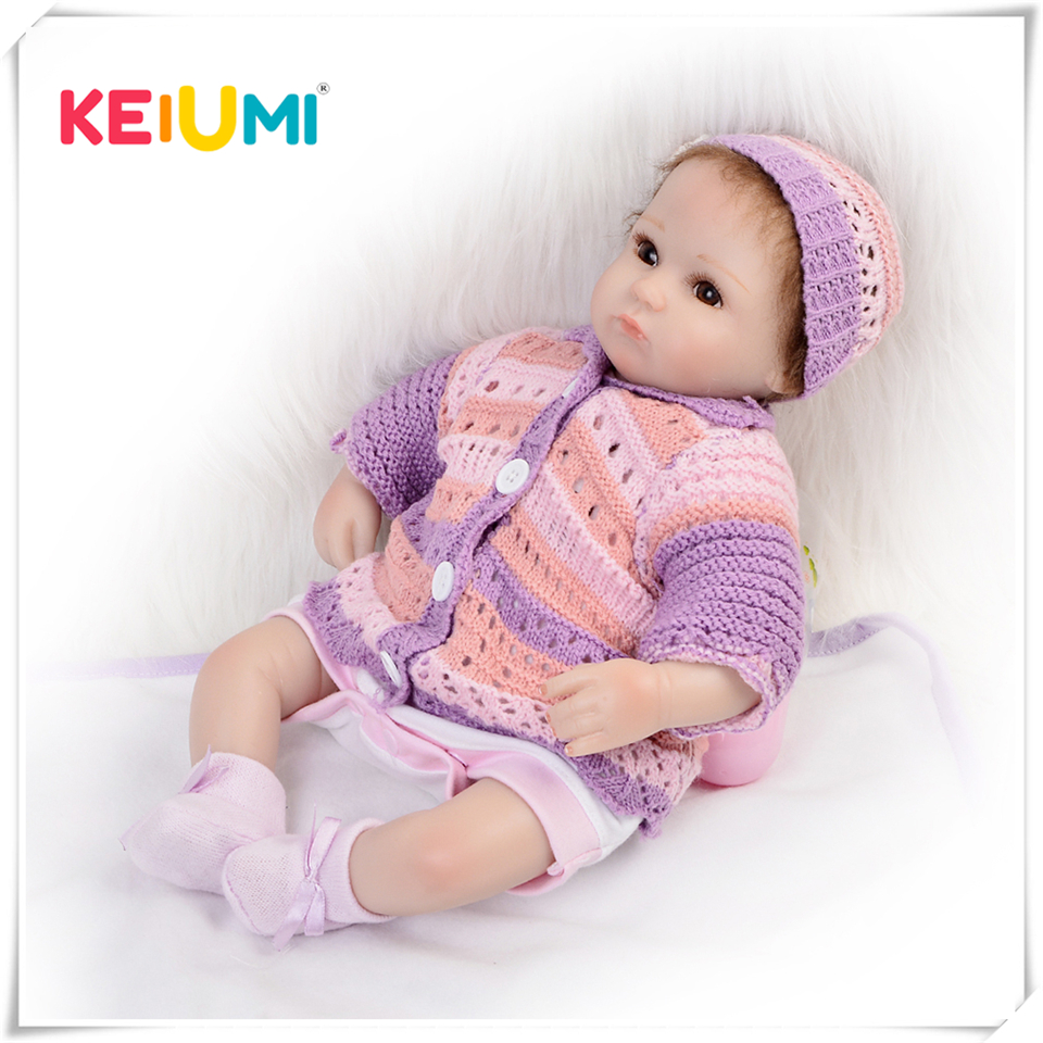 Collectible 17 inch reborn babies lifelike soft silicone newborn dolls real touch girl doll kids birthday gift teens canvas boy school bags for teenage girls backpack schoolbag women usb student bags men black book bag for teenagers