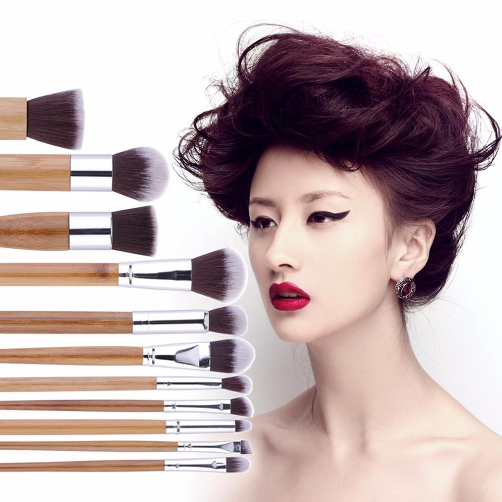 11Pcs/Sets Makeup Brush Professional Soft Eyeshadow Facial Cosmetic Concealer Brushes Tool Sets for Women Make Up Foundation