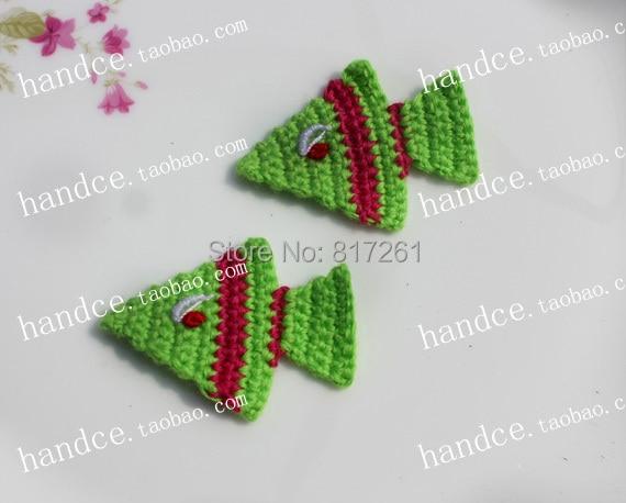 Free shipping 12 pis lot crochet lace applique for clothes decor