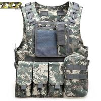Men Special Ops Molle Army Vest Soldiers Combat Military Tactical Vests Fast Move Airsoft Paintball Camouflage Vest