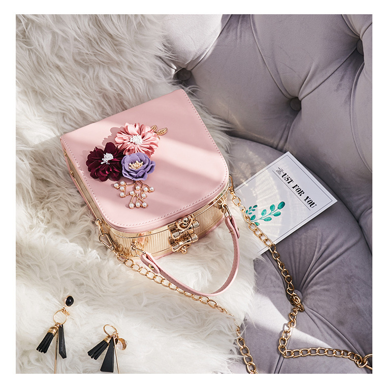 Women crossbody bag female messenger bag with long and short strap fashion designs flowers 59