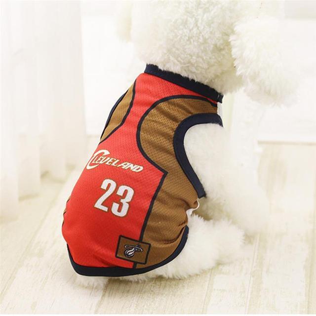 Deportes chaleco del perro gato ropa para mascotas verano algodón sudadera fútbol perro ropa para pequeños perros medianos S-XL