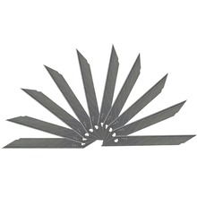 цена на 10 PCS Office Supplies 30 Degree Utility Knife Refill Blades Alloy Steel Replaceable Blades Cutting Blades For Utility Knife E03
