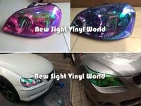 10 Rolls Lot 10 Colors Auto Car Styling Chameleon Headlight Film Tint Taillight Vinyl Change Color