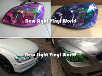 10 Rolls Lot 10 Colors Auto Car Styling Chameleon Headlight Film Tint Taillight Vinyl Change Color