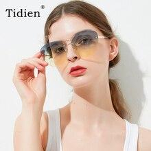 Vintage Rimless Gradient Metal Sunglasses Women Tidien Pilot Luxury Brand Design Travel Beach Ladies Spectacles A1170