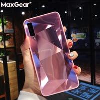3D Diamond Glitter Mirror Case For Samsung Galaxy A7 A6 A8 Plus A9 2018 A5 2017 Cover Silicone Soft Candy Case for Samsung A750