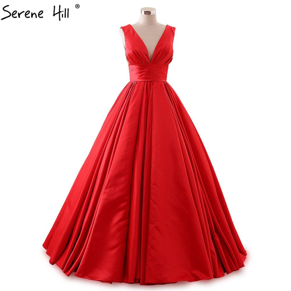 Custom Made Sleeveless Elegant Red Evening Dresses Long Applique ...