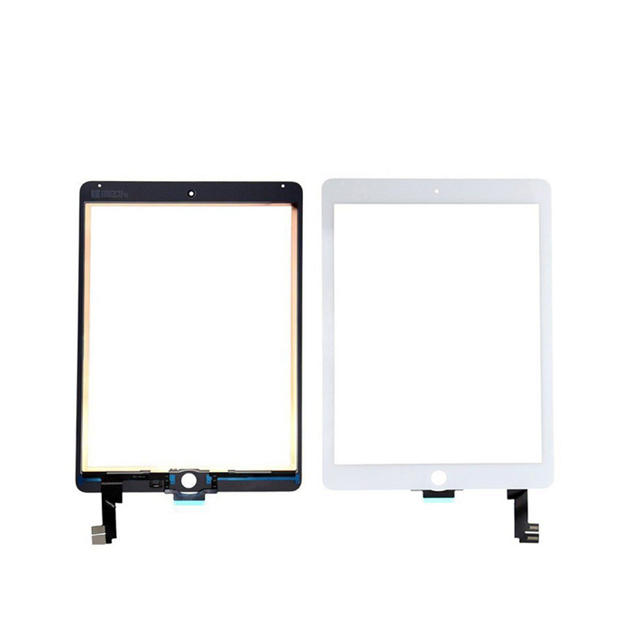 1 teile/los WINCOO Für iPad Air 2 2nd Touchscreen Digitizer (Keine IC Connector) + vorder Touch Panel Für iPad 6 A1566 A1567 Ersatz