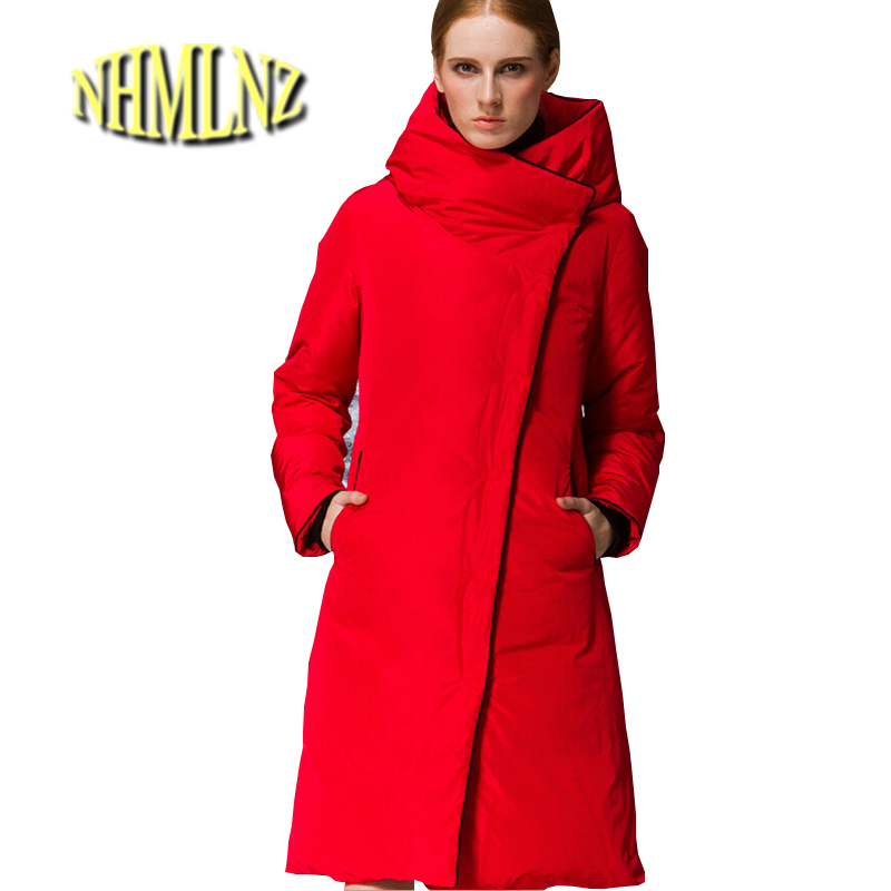 Europe Latest Women Fashion Winter Cotton jacket Hooded Thicken Warm Overcoat Loose Big yards Slim Long sleeve Long Coat G1906 warm thicken baby rompers long sleeve organic cotton autumn