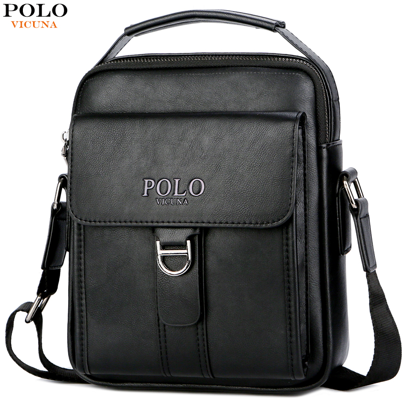 VICUNA POLO Vintage Leather Men Shoulder Bag Casual Tote for Daily Business Messenger Bag Famous Brand High Quality Male Handbag vicuna polo new arrival brand business men s shoulder bag square design casual men bag promotion leisure messenger bag top sell