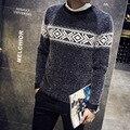 Мужская Зимняя Шерсть Осень Трикотажные Рождество Опрятный Стиль Мохер Свитер Пуловеры Перемычка Джерси Hombre Теплый Корейский Тонкий Manswear