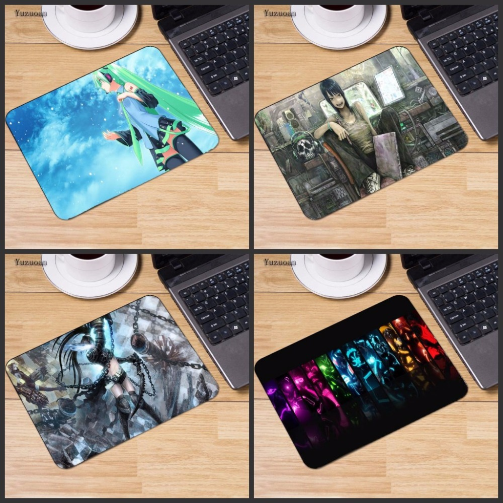 Yuzuoan Japan Animation Top Game Computer Mouse Pad Small Mousepads Decorate Your Desk Non-Skid Rubber Pad No Overlock Edge