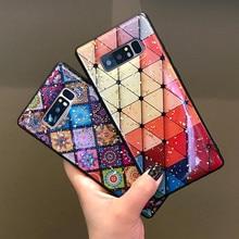 Модные золотые Фольга Шикарный чехол для телефона для samsung Galaxy S10 плюс Lite S8 9 плюс Note8 9 ромб дворец цветы Мягкий чехол для S10E
