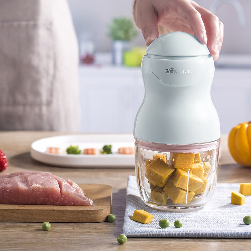 Multi Portable Mini Baby Food Feeding Machine Glass Cup Electric Mini Meat Grinders Blenders Mixer Green bear portable electric meat grinders 2l 300w 2 gears glass mini blenders 4 blades copper engine meat cutter kitchen appliances