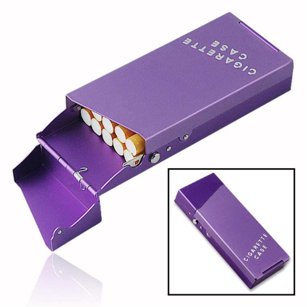 2017 NEW TOP Aluminum 10 Sticks Thin Fashion Pipe Creative Personality Cigaret Case Slim Lady Metal Cigarette Case Cigarette Box