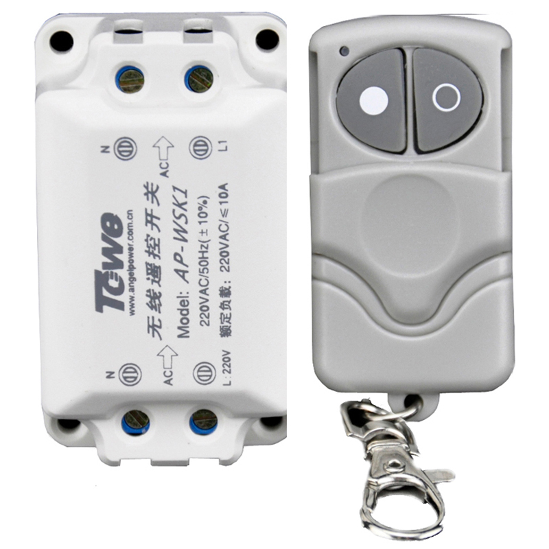 TOWE Lamp Wireless Remote Control Switch AP-WSK1  220V One Way Receiver Transmitter Through Wall Villa