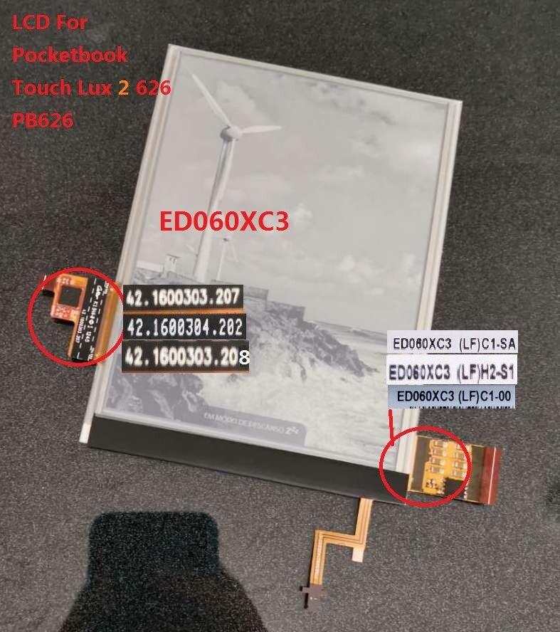 Écran lcd et tactile de 6 pouces avec rétro-éclairage pour PocketBook touch Lux 3 626 Plus 626 + 2GEN PB626 (2)-affichage matriciel du lecteur de D-WW - 4