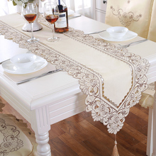 European Style Big Flower Pattern Lace Table Runner 1pcs Lenghth 145-265cm Table Runner 6 Sizes Decor Tea Dinner Table Runners