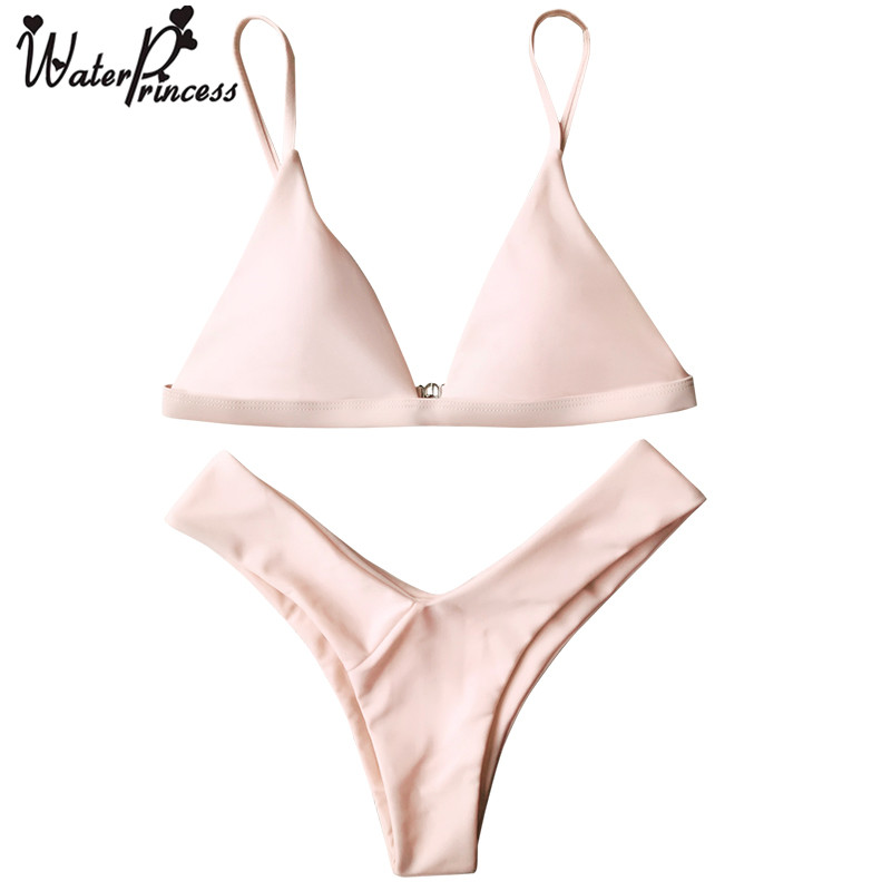 91d114737f Water Princess U Neck Bralette Bikini Set 2017 New Padded Push Up Brazilian  Biquini Thong Triangle Bathing Suit swimsuit Beach-in Bikinis Set from  Sports ...