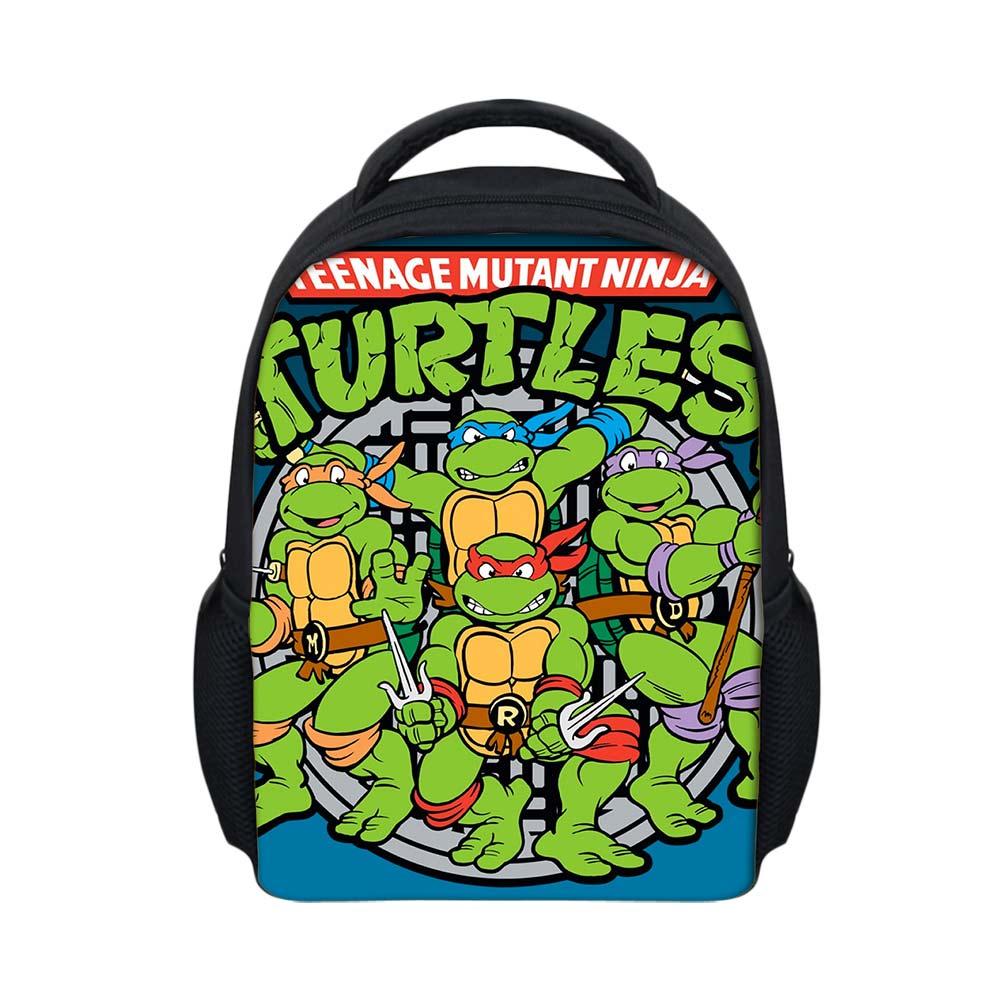 Tortugas Ninja Tmnt Dibujos Animados Impreso Niños Mochila Casual