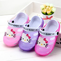 Hello Kitty Shoes 2017 Summer Beach Sandals Breathable Kids Shoes for Girl Clogs 2-7 Years Old Anti Slip Little Girls Sandals