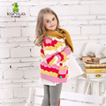 KAMIWA 2016 Kids Teen Girls Sweaterscoats Spring Autumn Colorful Full Striped Overwear Children's Clothing Baby Kids Clothes