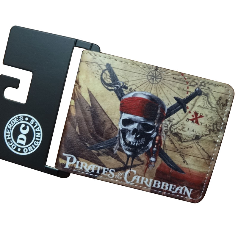 High Quality Men Purse Movie Anime Pirates of the Caribbean Wallets carteira Dollar Price Card Money Holder Leather Short WalletHigh Quality Men Purse Movie Anime Pirates of the Caribbean Wallets carteira Dollar Price Card Money Holder Leather Short Wallet