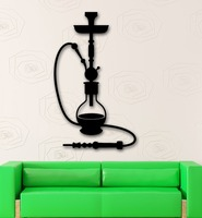 Vinyl Decal Hookah Shisha Arabic Culture Relax Smoke Decor Wall Sticker