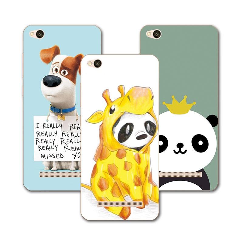 Новые прибыл роспись собака медведь чехол для coque Xiaomi Redmi 4A Redmi4A Hongmi 4A чехол Капа принципиально Redmi4A Hongmi 4A 5 + подарок