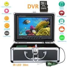 15 м 30 м 50 м 9-дюймовый Подводная охота Видео Камера 1000TVL Рыболокаторы HD DVR Регистраторы Водонепроницаемый рыбалки с 6 шт. 1 Вт ИК светодиодный