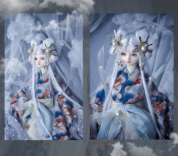 Refined version Retro Japanese Style Haunted night Smoke smoke Kimono 1/3 1/4 Uncle Boy Girl SD MSD BJD Doll Clothes