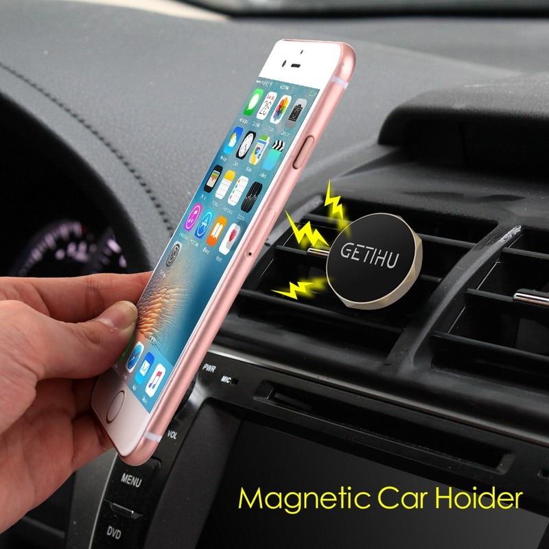 רכב חדש מחזיק רכב מיני אוורור הר מגנט מגנטי טלפון נייד מחזיק אוניברסלי עבור iPhone 5 6 6 סמסונג מחזיק רכב עומד