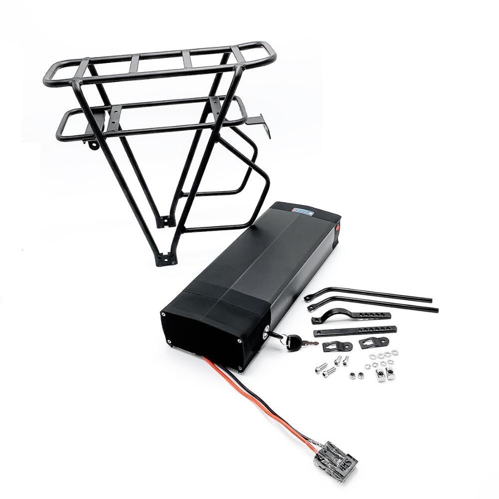 Bicicleta eléctrica 48V 18Ah Paquete de batería de bastidor trasero para eBike con suspensión de equipaje luz trasera Puerto USB EE. UU./UE /AU/UK E cargador de bicicleta - 3
