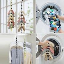 Домашние носки с веревкой креативные многофункциональные стиральная Одежда Корзина 3 цвета многофункциональные сушильные носки шнурки