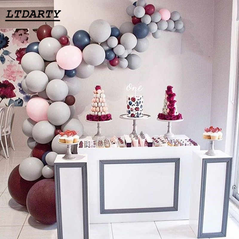 20pcs/lot Grey Latex Balloon 5/10/12inch Gray Party Balloons Wedding Birthday Party Balloon Baby Shower decorations supplies