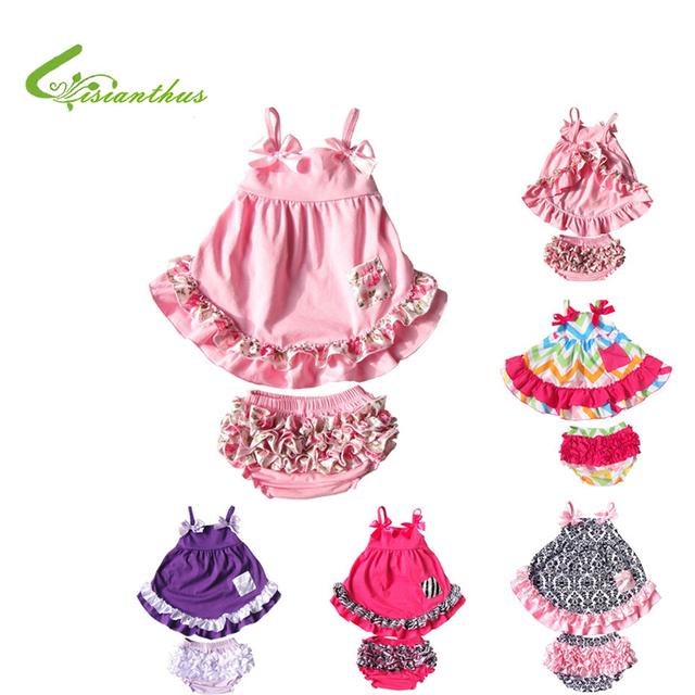Baby Girl 2 unids ropa Bloomers de la colmena + lindas camisetas niño de algodón ropa de moda ropa en verano envío gratis