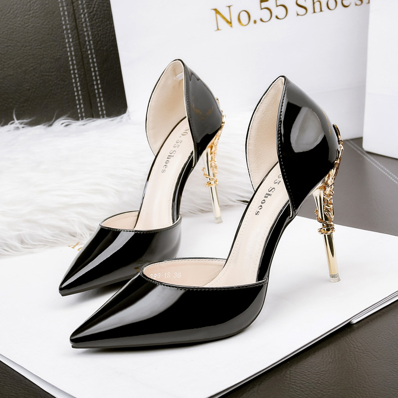 European Dress fashion office ladies shoes slip on pointed toe thin heels shoes woman sexy beautiful elegant women pumps 2018 spring pointed toe thick heel pumps shoes for women brand designer slip on fashion sexy woman shoes high heels nysiani