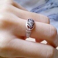 L&P Vintage Retro fashion silve accessories unique Thailand silver Rose rings Compatible Bohemia Cocktail Ring