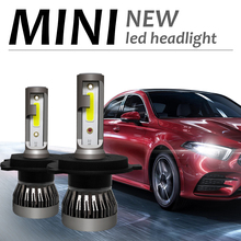 2 шт. H7 светодиодный мини-автомобиль лампы для передних фар 12000LM/пара H1 светодиодный H7 H8 H9 H11 комплект фар 9005 HB3 9006 HB4 авто светодиодный лампы