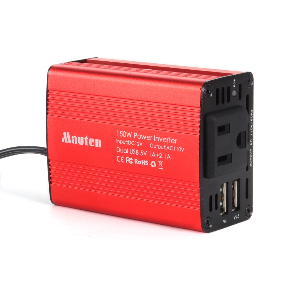 Car Inverters 150W Modified Sine Wave DC 12 V - AC 110V/220V Power Inverte Converter Adapter US Plug Inverter