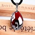 Red garnet silver 925 pendants necklace women flower shape ruby-jewelry unique fashion synthetic gemstone bijoux